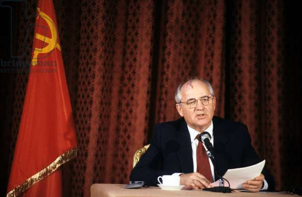 Mikhail Gorbatchev Soviet President here July 1989 (photo)