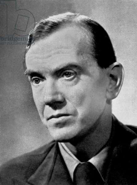 Graham Greene (1904-1991) English Playwright Novelist and Journalist here C. 1954 (b/w photo)