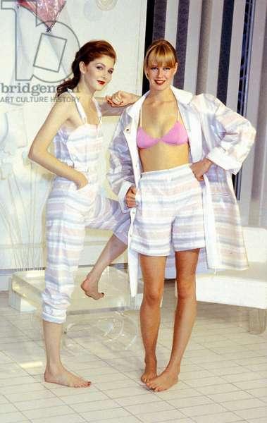 Courreges Fashion Summer 1983 : Beach Suit (photo)