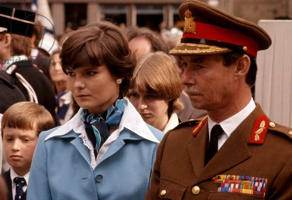 Princess Margaretha of Luxembourg and her father Grand Duke Jean of Luxembourg c. 1979 (photo)