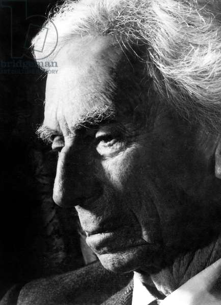 English Mathematicien and Philosopher Bertrand Russell (1872 - 1970) Militant and Leader of The Committee of 100 For Nuclear Disarmament  (b/w photo)