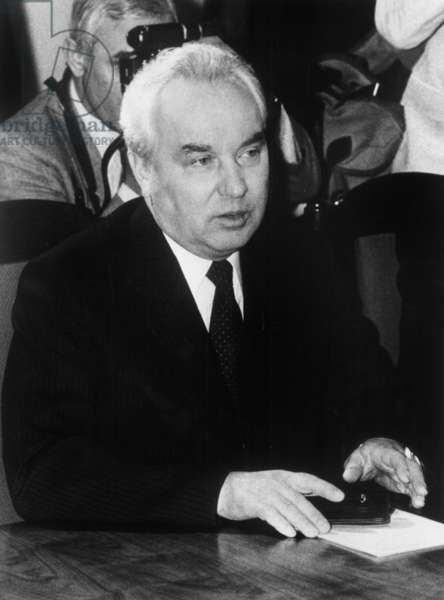 Grigori Romanov Secretary of the Cenrtal Committee of the Pcus (Communist Party of the Sovietic Union) July 2, 1985 (b/w photo)