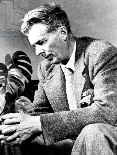 Aldous Huxley (1894-1963) English Novelist and Essayist C. 1946 (b/w photo)