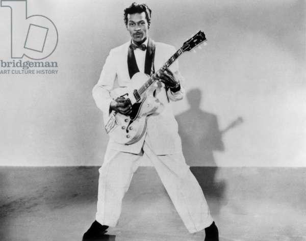Chuck Berry in 1954 (b/w photo)