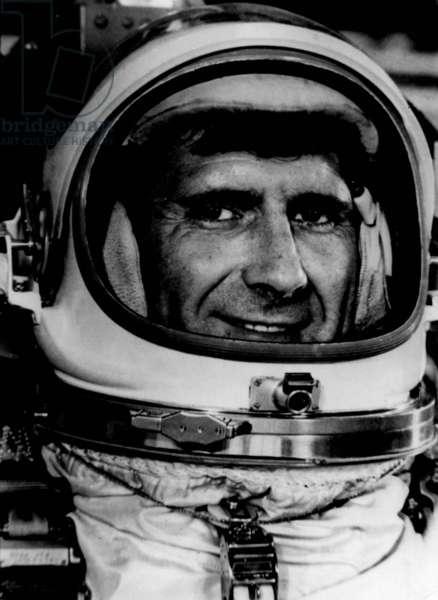 Gemini 11 (September 1966) : American Astronaut Richard Gordon, Pilot, here on July 24, 1966 (b/w photo)