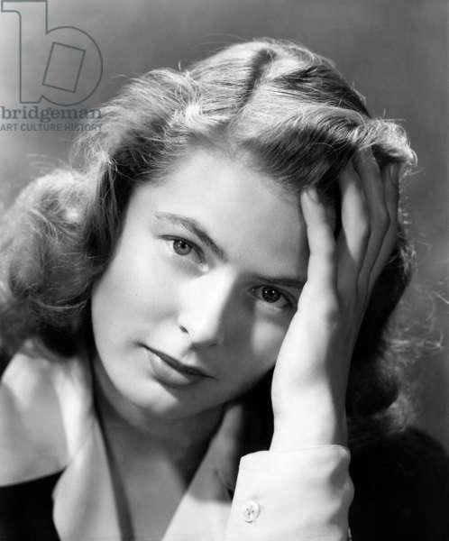 Actress Ingrid Bergman (1917-1982) C. 1945 (b/w photo)