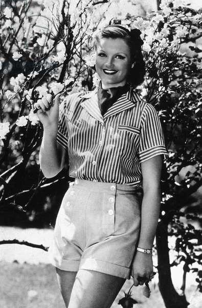 French Actress Simone Simon (1911-2005) here in The 40'S (b/w photo)
