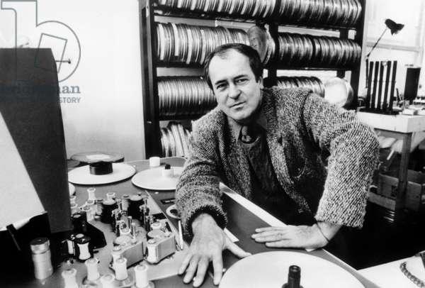 Italian Director Bernardo Bertolucci February 25, 1988 (b/w photo)