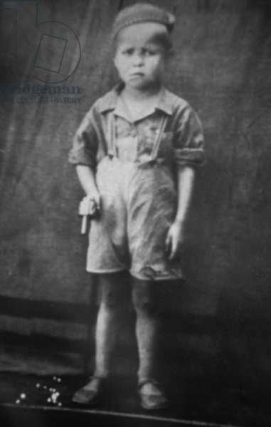 Russian Choreographer and Dancer Rudolf Noureev (1938-1993), here As A Child C. 1943 (b/w photo)