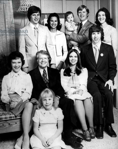 Jimmy Carter Et Sa Famille En 1976 : Debout Derriere : James Earl Iii