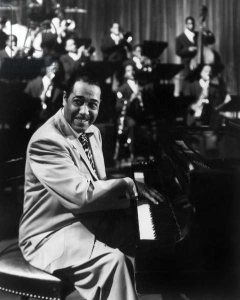 Duke Ellington (1899-1974) American Jazz Composer and Pianist here in Concert in 1950 (b/w photo)
