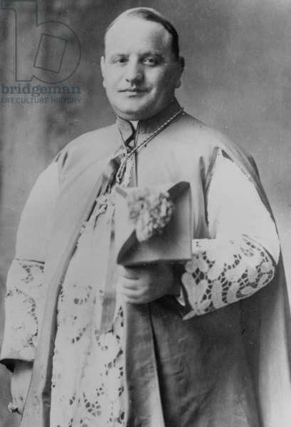 Cardinal Ange Joseph Roncalli (1881-1963) Future Pope John Xxiii (1958-1963) here in 1942 (b/w photo)