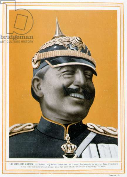 """The laughter of the Kaiser (William II) - in """""""" Modern Germany"""""""", 1914"""