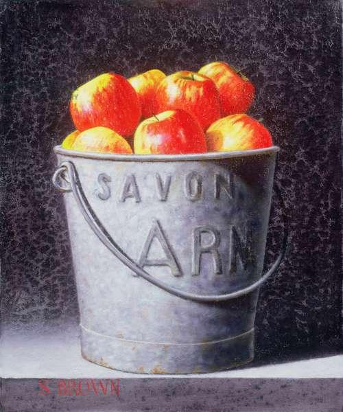 Bucket of Apples, 2003 (oil on canvas)
