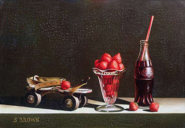 Skate and Strawberries, 2004 (oil on canvas)