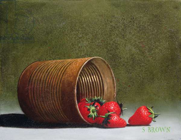 Can of Strawberries, 2003 (oil on canvas)
