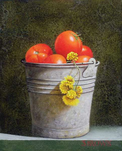 Bucket of Tomatoes; 2004 (oil on canvas)