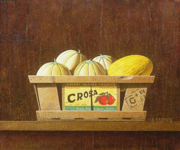 Crosa and Melons, 2005 (oil on canvas)