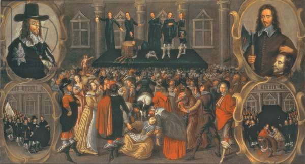 An Eyewitness Representation of the Execution of King Charles I in 1649 (oil on canvas) (see 617397 for detail)