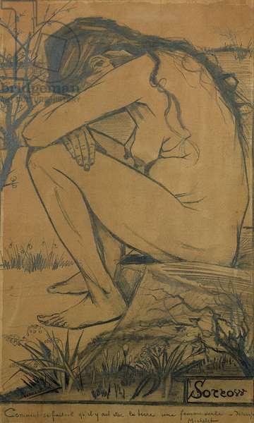 Sorrow, 1882 (pencil, pen and ink)
