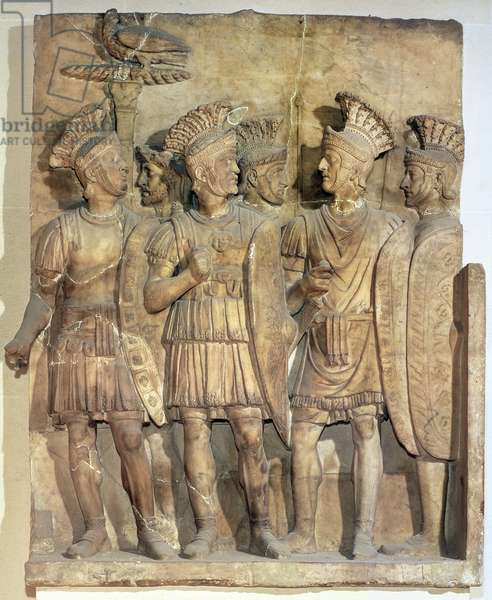 Soldiers of the Praetorian Guard, relief, Roman, 2nd century (marble)