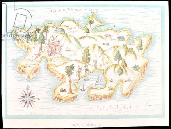 Map of the island of Martinique, 1599
