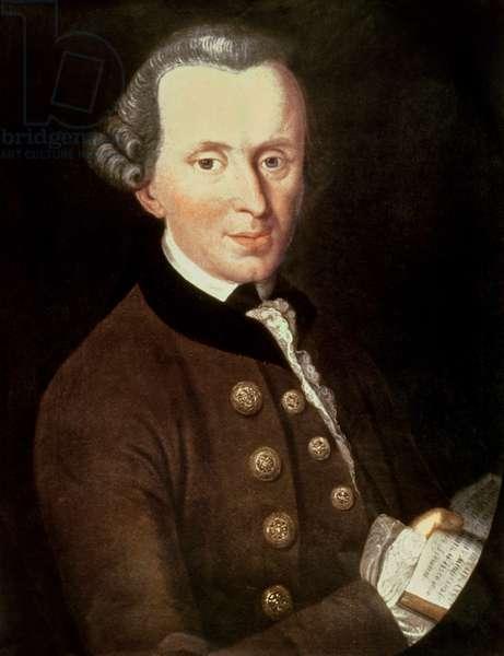 Portrait of Emmanuel Kant, 1768 (oil on canvas)