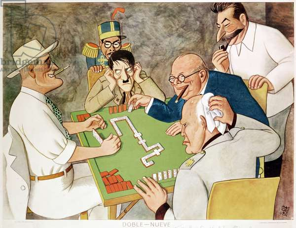 Double Nine: Allied Teamwork wins the Game, 1944 (litho)