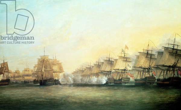The fourth action off Trincomalee between the English under Admiral Sir Edward Hughes (c.1720-94) and the French under M. de Suffren, 1782