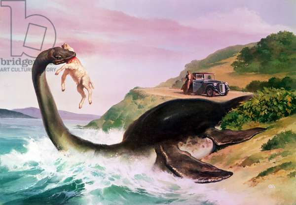 The Loch Ness Monster, illustration, c.1935 (litho)