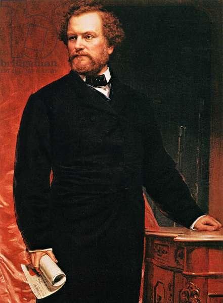 Portrait of Samuel Colt, inventor of the revolver