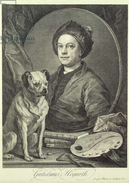 Self Portrait, 1749 (engraving)
