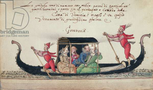 MS W.477 fol.13  Scene from Kippell's 'Costume Book', c.1558 (w/c on paper)