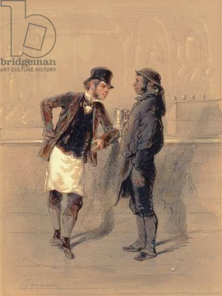 Car Man and Coal Heaver, 1848 (w/c, graphite, pencil & bodycolour on paper)