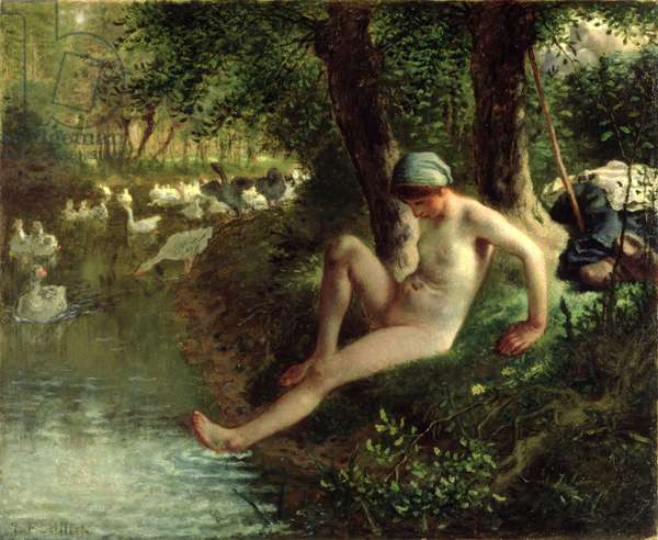 The Bather, 1863 (oil on canvas)
