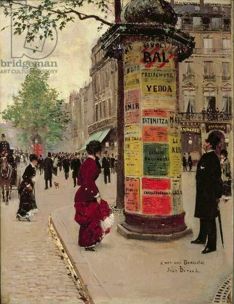 Paris Kiosk, early 1880s (oil on fabric)
