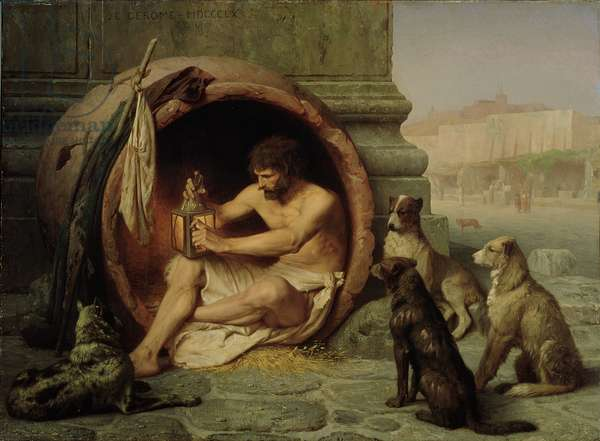 Diogenes, 1860 (oil on linen)