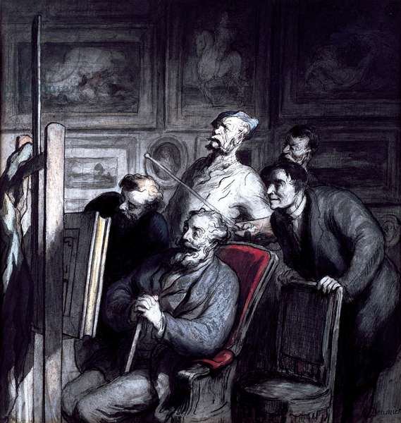 The Amateurs, after 1862 (crayon, w/c ink & gouache on paper)