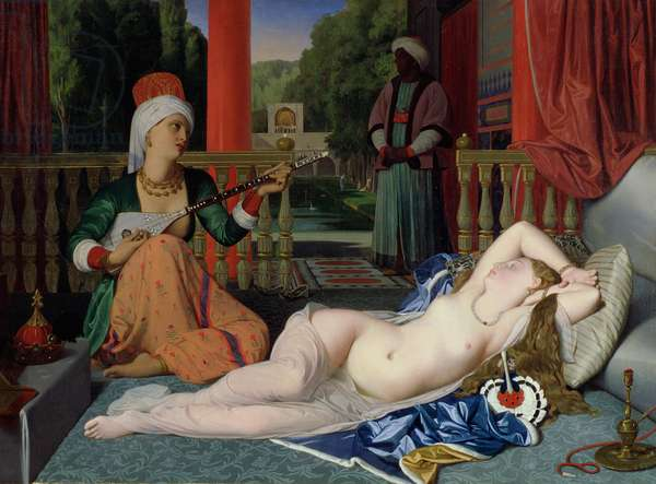 Odalisque with Slave, 1842 (oil on canvas)