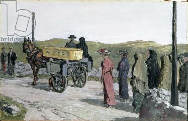 The Swinford Funeral, 1918 (oil on fabric)