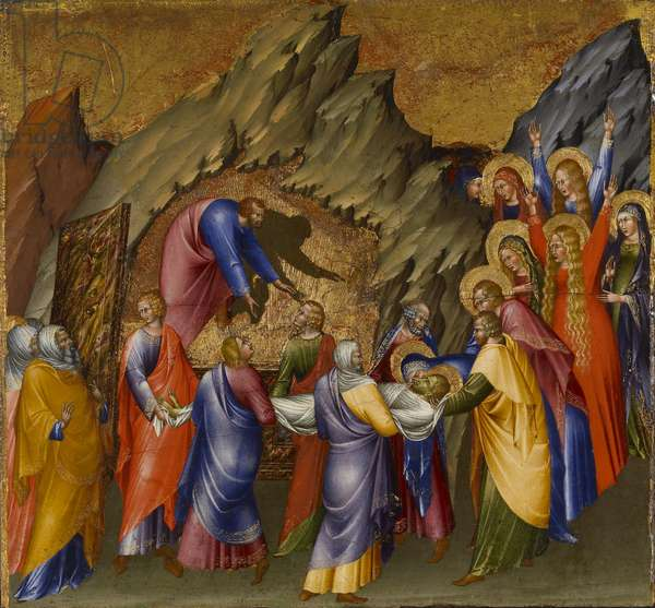 The Entombment of Christ, from the Malavolti altarpiece, 1426 (tempera with gold leaf on panel)