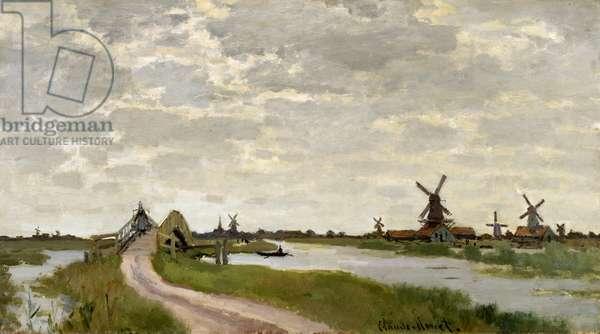 Windmills Near Zaandam, 1871 (oil on canvas)
