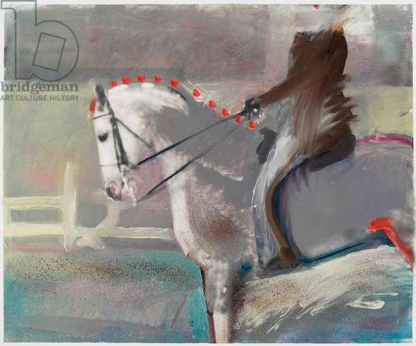 Arab Pony, 1983 (oil on gelatin silver print)