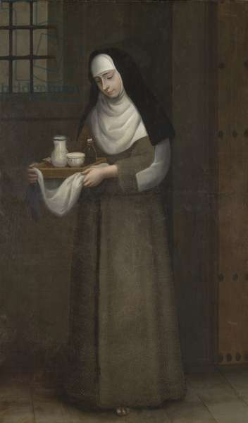 Capuchin Nun Carrying Food, c.1775-1800 (oil on canvas)