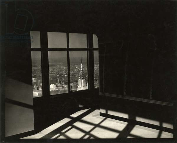 Chrysler Building, viewed out the window of the Empire State Building, New York, USA, c.1920-38 (gelatin silver photo)