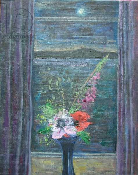Summer Night (Bouquet in Window)