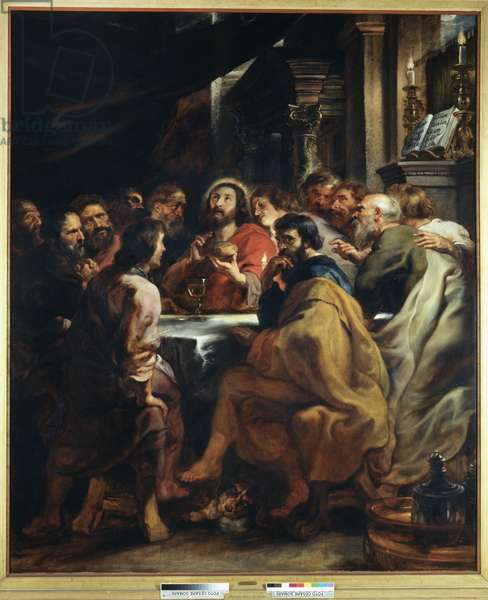 The Last Supper, 1631-32 (oil on panel)