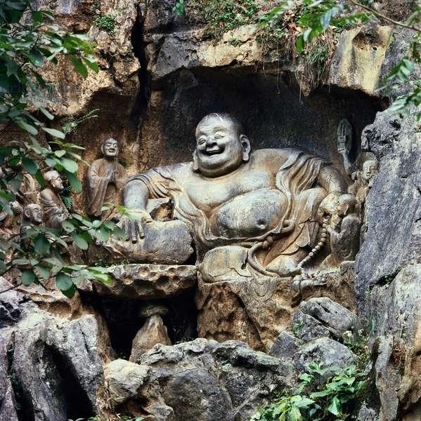 Buddha and Disciples Hangzhou, China Chinese Art