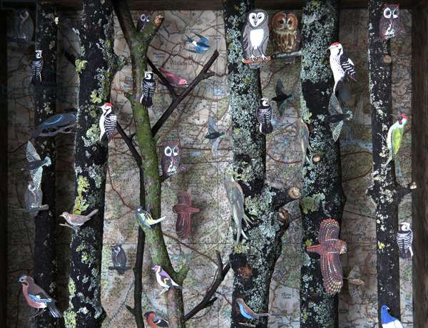 The Edge of the Forest (detail), 2010, (box construction)