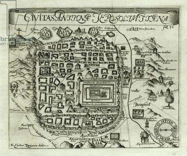 Map of Jerusalem, 1661 (engraving)